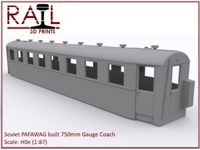 H0e - PAFAWAG - 750mm Gauge Coach in Smooth Fine Detail Plastic
