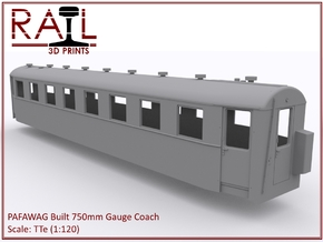 TTe - PAFAWAG - 750mm Gauge Coach in Smooth Fine Detail Plastic