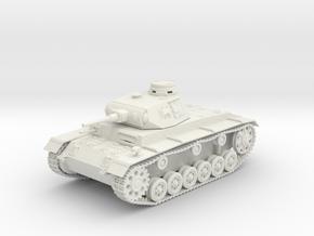 VBA Panzer III (PzKpfw III - SdKfz. 141) ausf.G in White Natural Versatile Plastic