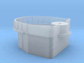 Fletcher-class Mare Island D-shaped Gun Tub Ver. 2 in Smoothest Fine Detail Plastic