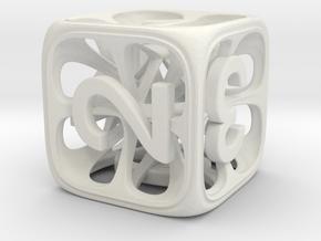 Hedron Dice Set in White Natural Versatile Plastic: d6