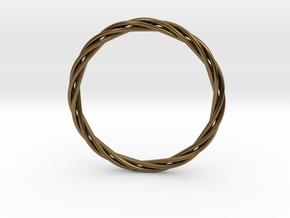 twisted bracelet in Polished Bronze