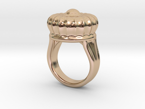 Old Ring 23 - Italian Size 23 in 14k Rose Gold Plated Brass