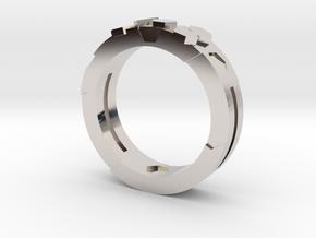 Ring Hex in Platinum