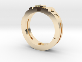 Ring Hex in 14k Gold Plated Brass
