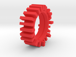 Ring2 in Red Processed Versatile Plastic