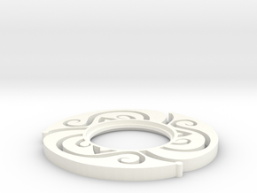 Lightsaber Floral Tsuba in White Strong & Flexible Polished