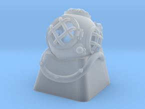Diver Helmet (For Cherry MX Keycap) in Smooth Fine Detail Plastic