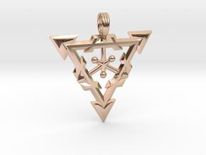LIQUID WARRIOR in 14k Rose Gold Plated Brass