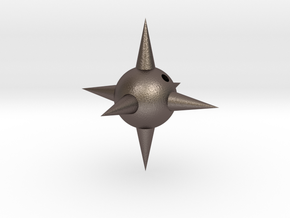 Spike Ball 2.0 in Polished Bronzed Silver Steel