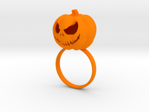 Pumpkin ring - Size 9 in Orange Processed Versatile Plastic