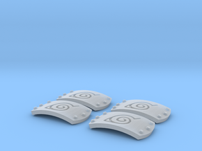 1:6 leaf symbol plates in Smooth Fine Detail Plastic