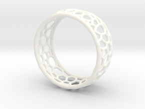 Cellular structure ring in White Processed Versatile Plastic