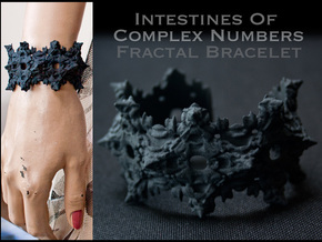 Intestines of Complex Numbers - Bracelet in Black Strong & Flexible