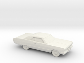 1/87 1969 Plymouth Fury Coupe in White Natural Versatile Plastic