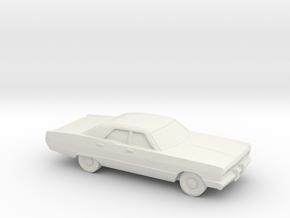 1/87 1969 Plymouth Fury Sedan in White Natural Versatile Plastic
