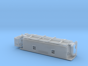 GTW Wood Caboose S Scale in Smooth Fine Detail Plastic