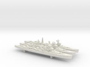 HMS Carlisle 1:1800 x3 in White Natural Versatile Plastic