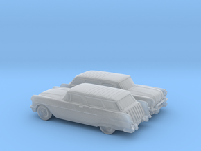 1/160 2X 1957 Pontiac Safari in Smooth Fine Detail Plastic