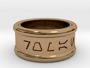 Imperial Alphabet Ring   in Polished Brass