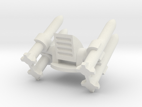 Missile Turret Top in White Natural Versatile Plastic