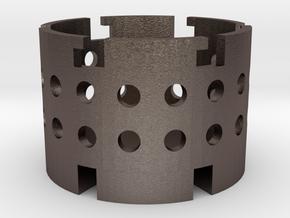 Silica Gel Cage for use with APT holder V3 & V5 in Polished Bronzed Silver Steel