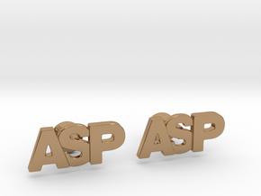 Monogram Cufflinks ASP in Polished Brass