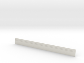 Concrete Security Fence 100' in White Natural Versatile Plastic