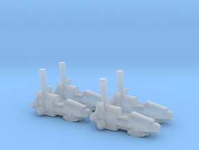 ENTERPRISE NX01 SET OF 4 PHASE CANNON in Smooth Fine Detail Plastic
