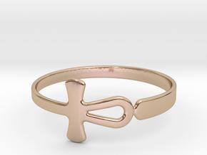 Anhk Bracelet 65 in 14k Rose Gold Plated Brass