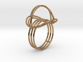 VESICA PISCIS Ring Nº2 in Polished Brass