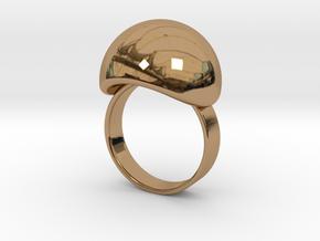 VESICA PISCIS Ring Nº3 in Polished Brass