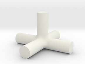 Bora - 5way Joint in White Natural Versatile Plastic