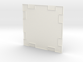 Wall 001a in White Strong & Flexible Polished