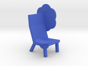 'EMOJI CHAIR - BLOOM' by RJW Elsinga 1:10 in Blue Processed Versatile Plastic