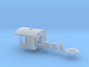 S&A 750 cab and boiler details - HO scale in Frosted Ultra Detail