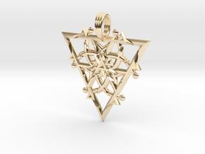 FIRESPIKE in 14k Gold Plated Brass