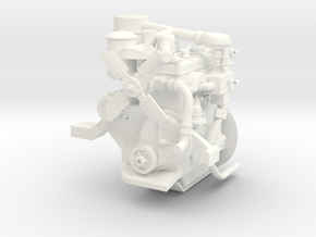 1:6 Continental Bantam Engine for 1:6 Jeep in White Strong & Flexible Polished