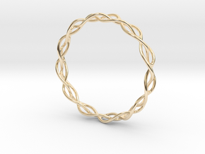 Braidlet Slim in 14k Gold Plated Brass