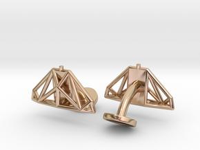 Cobra mkIII Wireframe Cufflinks in 14k Rose Gold