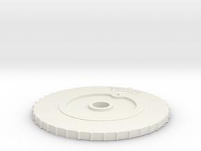 CAC Boomerang Trim Wheel in White Strong & Flexible