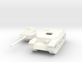 Hungarian Turan III Medium tank 1/100th 15mm in White Processed Versatile Plastic