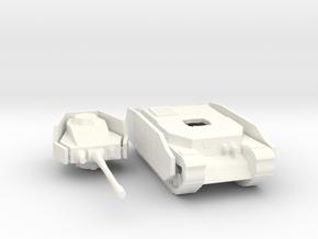 Hungarian Turan III tank side armor in White Processed Versatile Plastic