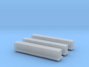 1/450 Container Wagon A x3 in Smooth Fine Detail Plastic