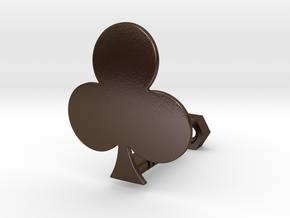 Clover in Polished Bronze Steel