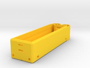18650 Single Holder in Yellow Processed Versatile Plastic