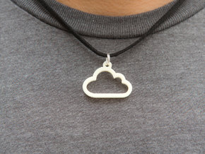 Cloud Pendant in White Natural Versatile Plastic