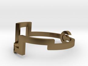 Link [Bangle Bracelet ∅ 6 cm] in Polished Bronze