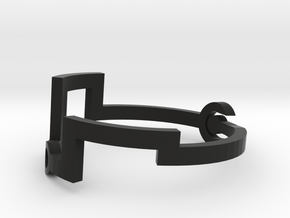 Link [Bangle Bracelet ∅ 6 cm] in Black Natural Versatile Plastic