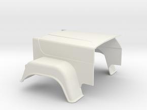 MACK-hood Superliner-1to16 in White Natural Versatile Plastic